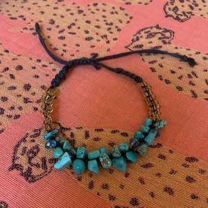 Jewelry - Adjustable length turquoise beaded bracelet